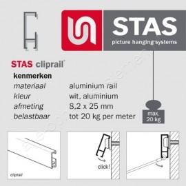 STAS plug 6mm voor harde wand
