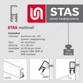 STAS multirail armatuur Sirius chroom
