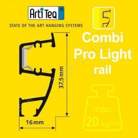 Artiteq combi rail pro light wit 200cm Actie set