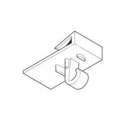 GeckoTeq Plafond clip klem met haak wit plastic - 20x30mm - 5kg