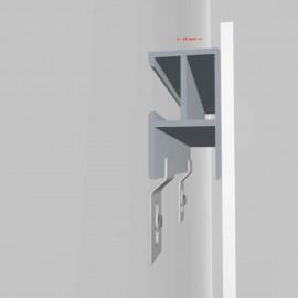 GeckoTeq DiBond Rail set zelfklevend inclusief 2 PVC Bumpers, 2 muurhaken en 1 reinigingsdoekje