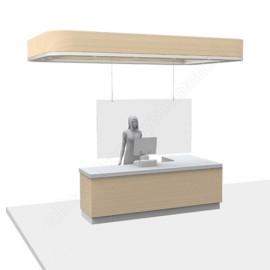 GeckoTeq - Corona Covid-19 Kuch Schirmen Aufhängung Set 1