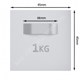 GeckoTeq Selbstklebender DiBond Glas-Forex-Spiegelanhänger inkl. Stoßfänger - per 1 Stück