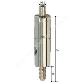 Selbstsichernde Drahtklemme mit 6,0 mm Schraubende