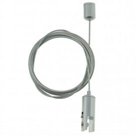 GeckoTeq Kugel Deckenanker-Kabelsystem mit selbstsichernder Klemme 6 mm - 10 kg