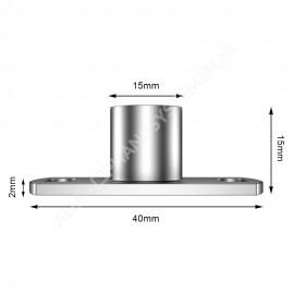GeckoTeq Deckenhalterung Nickel - 20kg