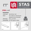 STAS U-rail 200cm